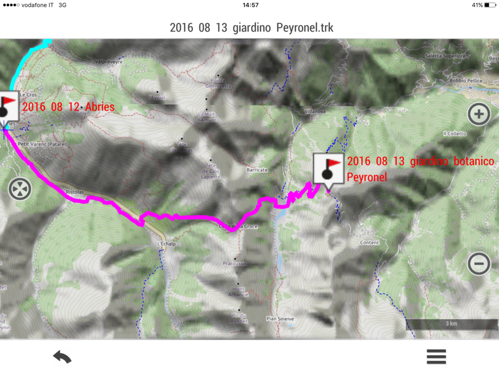 2016 08 12 LXV tappa : giardino botanico Peyronel, colle Barant