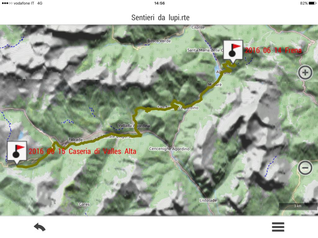 XII tappa: Caseria di Valles alta