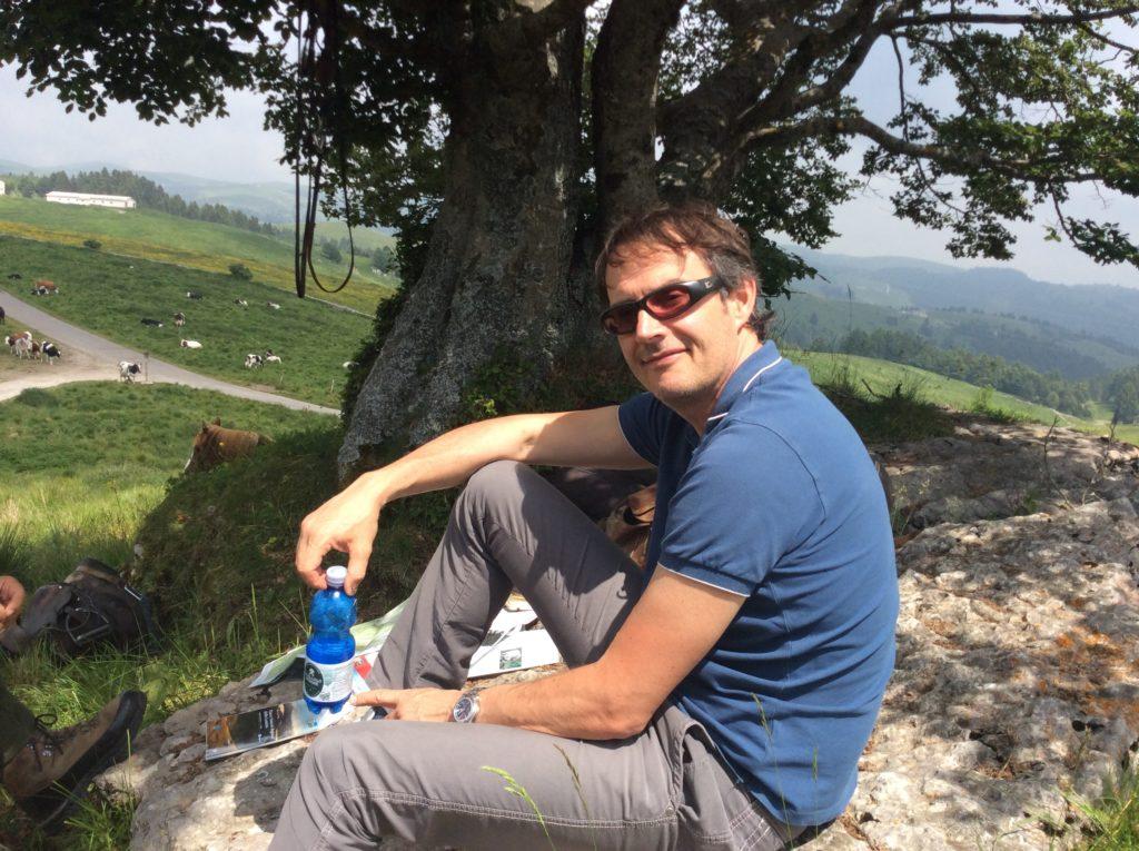Diego Lonardoni, direttore del parco della Lessinia, Emiliano, 'portatore sano' di Lessinia.