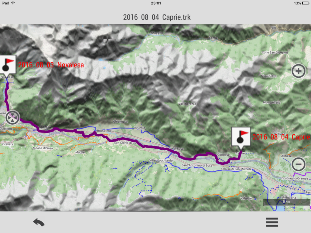 2016 08 03 LIX tappa: Caprie. Sosta in attesa del maniscalco fino al sette agosto